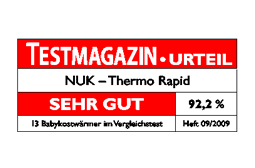 [Translate to greek:] Germany 2009: Very Good – NUK Baby Food Warmer  Thermo Rapid