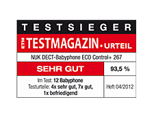 [Translate to greek:] Germany 2012: Very Good – NUK Baby Monitor ECO Conrol+