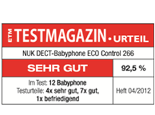 [Translate to greek:] Germany 2012: Very Good – NUK Babyphone ECO Control 266