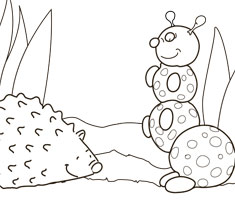 [Translate to greek:] NUK colouring page with hedgehog
