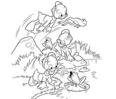 [Translate to greek:] Disney colouring page