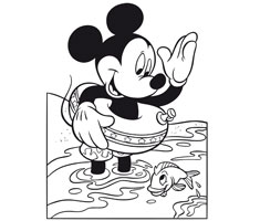 [Translate to greek:] colouring page with Mickey Mouse
