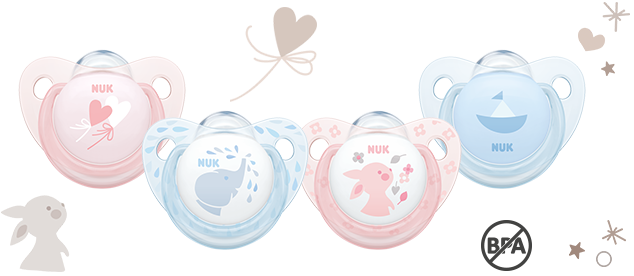 [Translate to greek:] NUK Trendline Baby Rose & Blue Soother