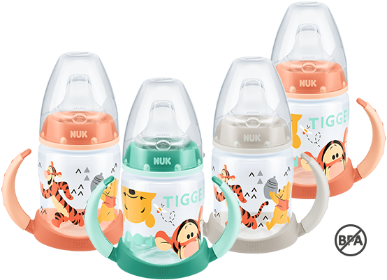 [Translate to greek:] NUK First Choice Disney Winnie the Pooh Learner Bottle 150ml with spout