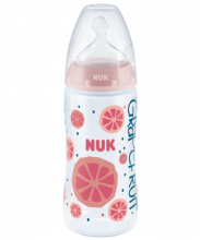 NUK Fruits First Choice Plus Μπιμπερό 300ml με Δείκτη Ελέγχου Θερμοκρασίας