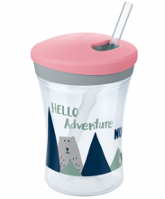 NUK Hello Adventure Action Cup 230ml με καλαμάκι