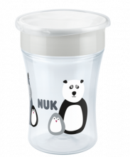 NUK Monochrome Animals Magic Cup 230ml με χείλος
