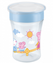 NUK Peppa Pig Magic Cup 230ml με χείλος και καπάκι