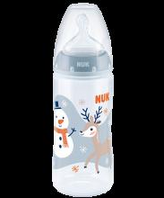 NUK Snow First Choice Plus Μπιμπερό πολυπροπυλενίου (PP) 300ml με θηλή
