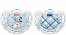 NUK Snow Freestyle Pacifier blue 0-6m