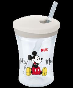 NUK Disney Mickey Action Cup 230ml με καλαμάκι