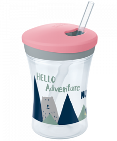 NUK Hello Adventure Action Cup 230ml με καλαμάκι