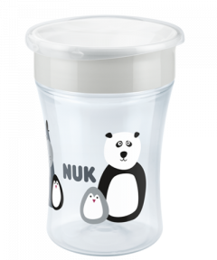 NUK Monochrome Animals Magic Cup 230ml με χείλος