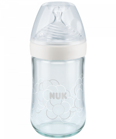NUK Nature Sense Glass Baby Bottle with Softer teat