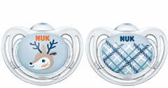 NUK Snow Freestyle Pacifier blue 0-6m
